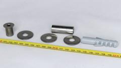 M8-100mm lajitelma, 10-50 mm alumiini holkki